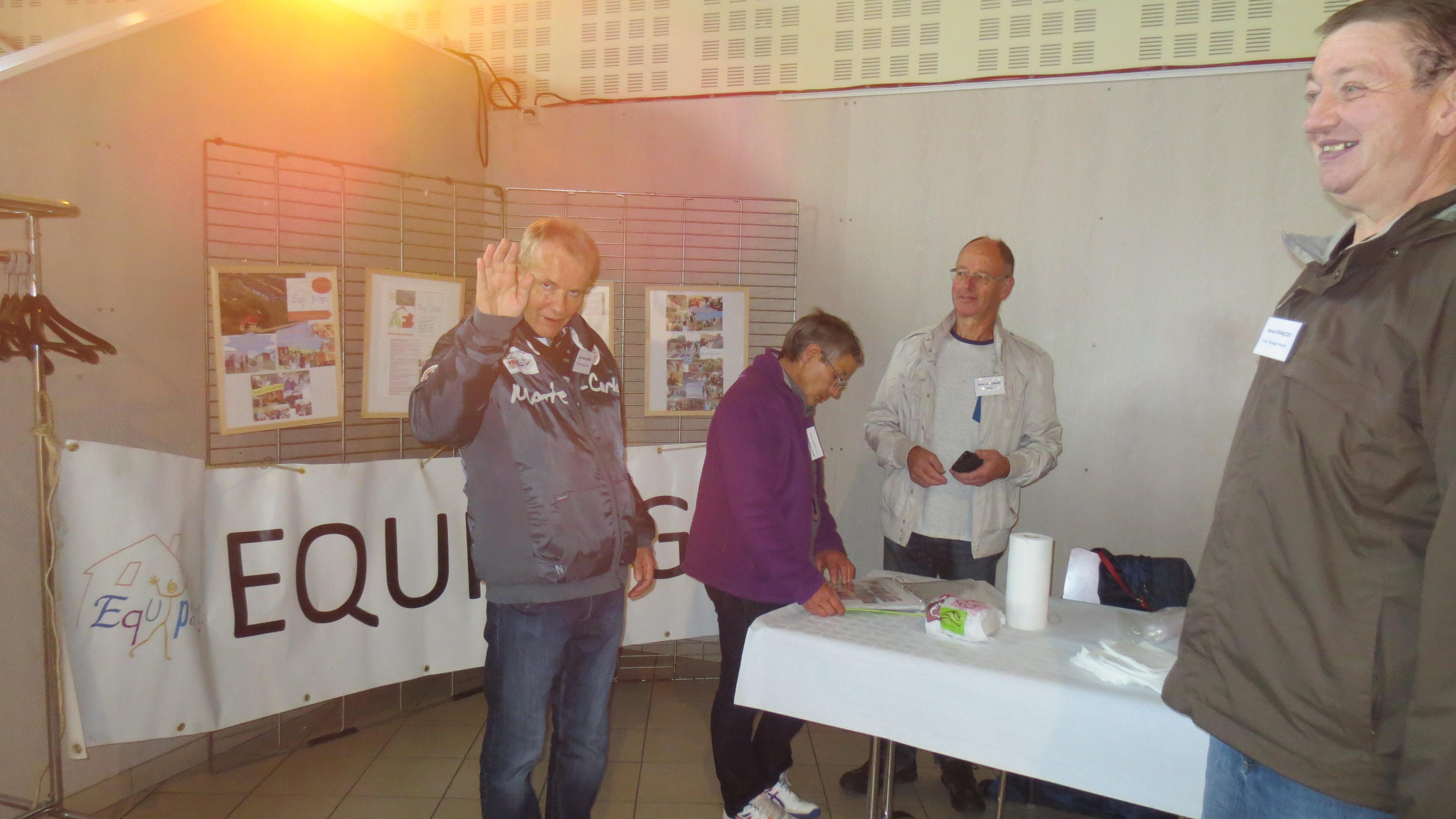 Notre stand accueillait le public avec la présentation de l'association et du Foyer