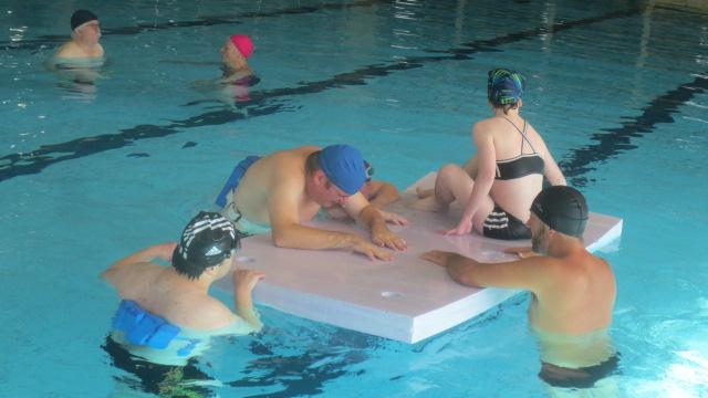 A Vittel, quand la piscine est entrièrement libre, on s'amuse beaucoup!