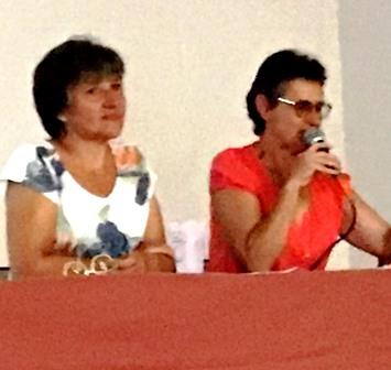 Sylvie et Dominique sur le podium