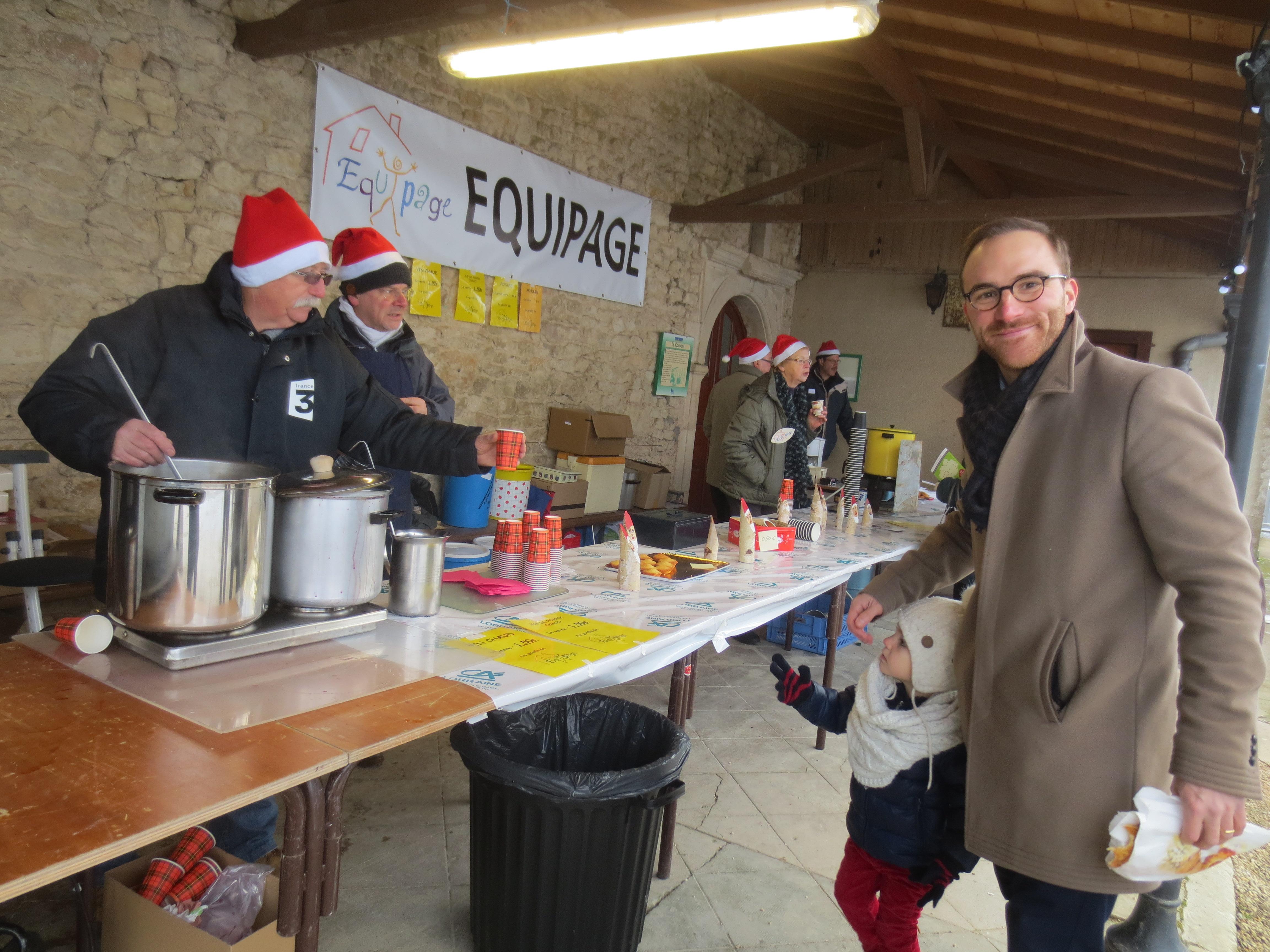 Le nouveau directeur de l'Association Fondation Bompard a découvert notre marché de Noël