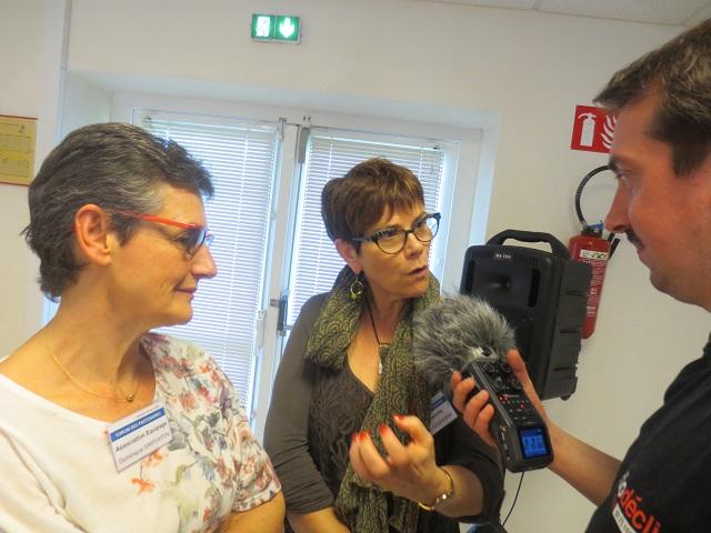 Corinne Gasperini et Dominique Griffaton ont répondu aux questions de Radio Declic