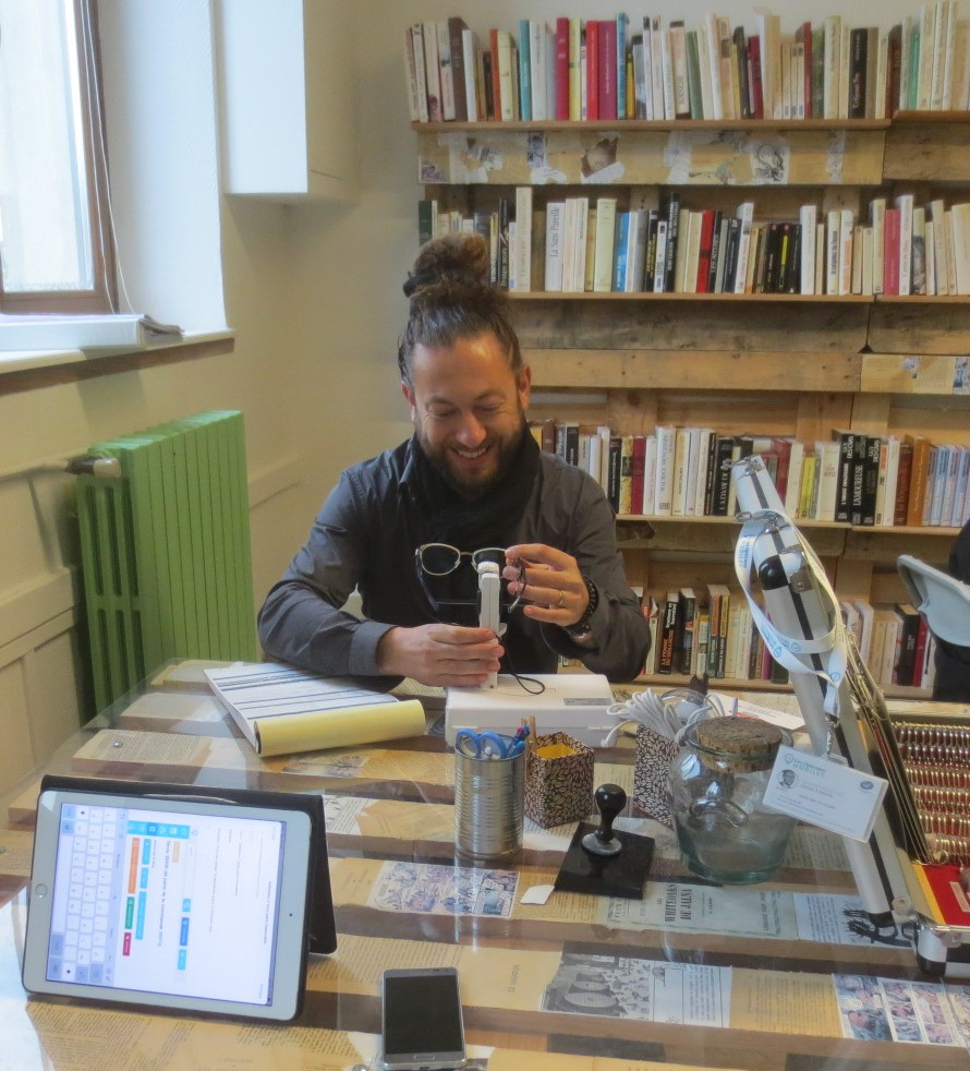 Un cabinet d'optique à la Bibliothèque