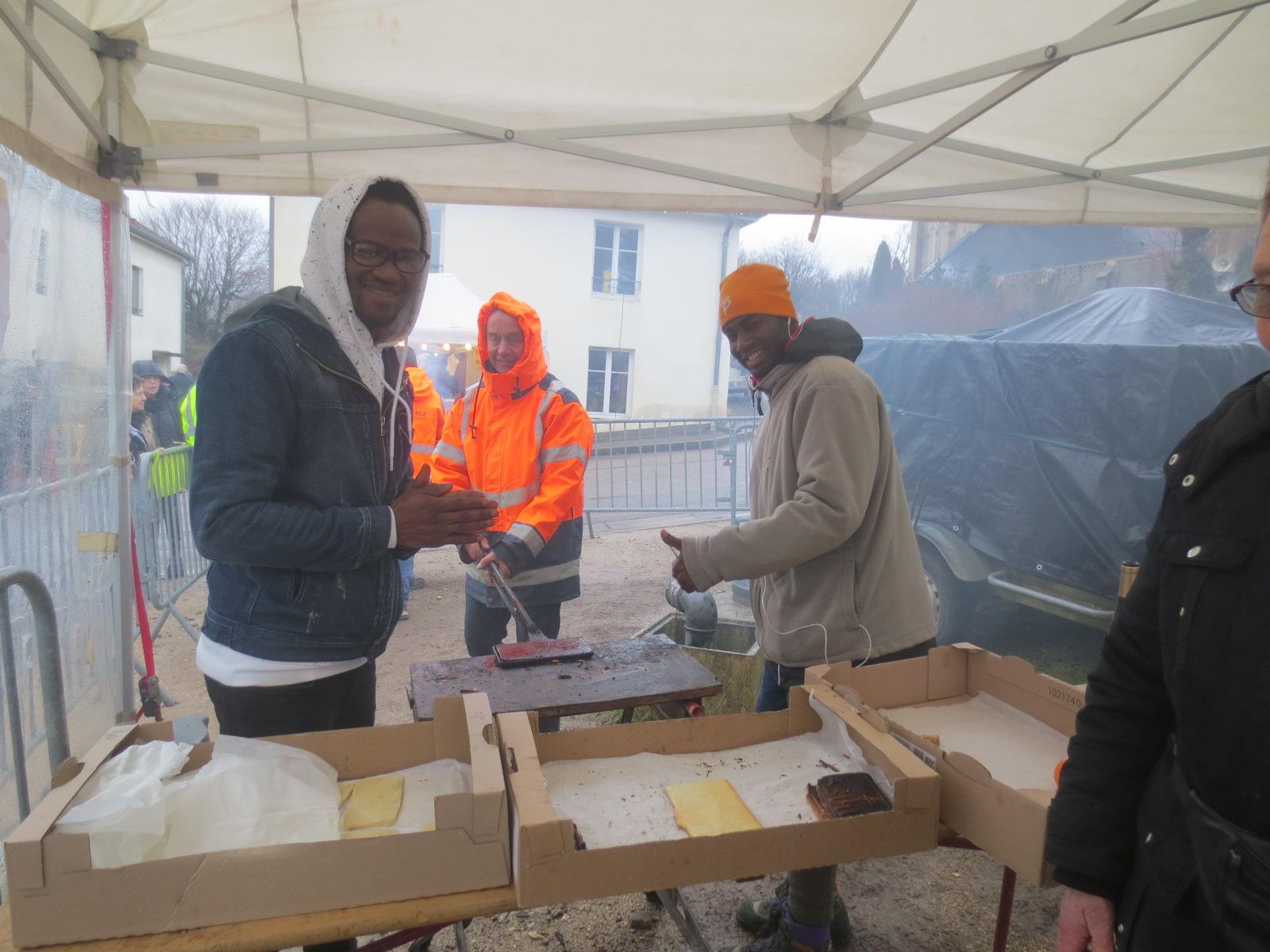 Ibrahim, de Côte d'Ivoire et Oumar, de GUinée ont pris le relais d'André ( Côte d'Ivoire) et Lansana de Guinée)