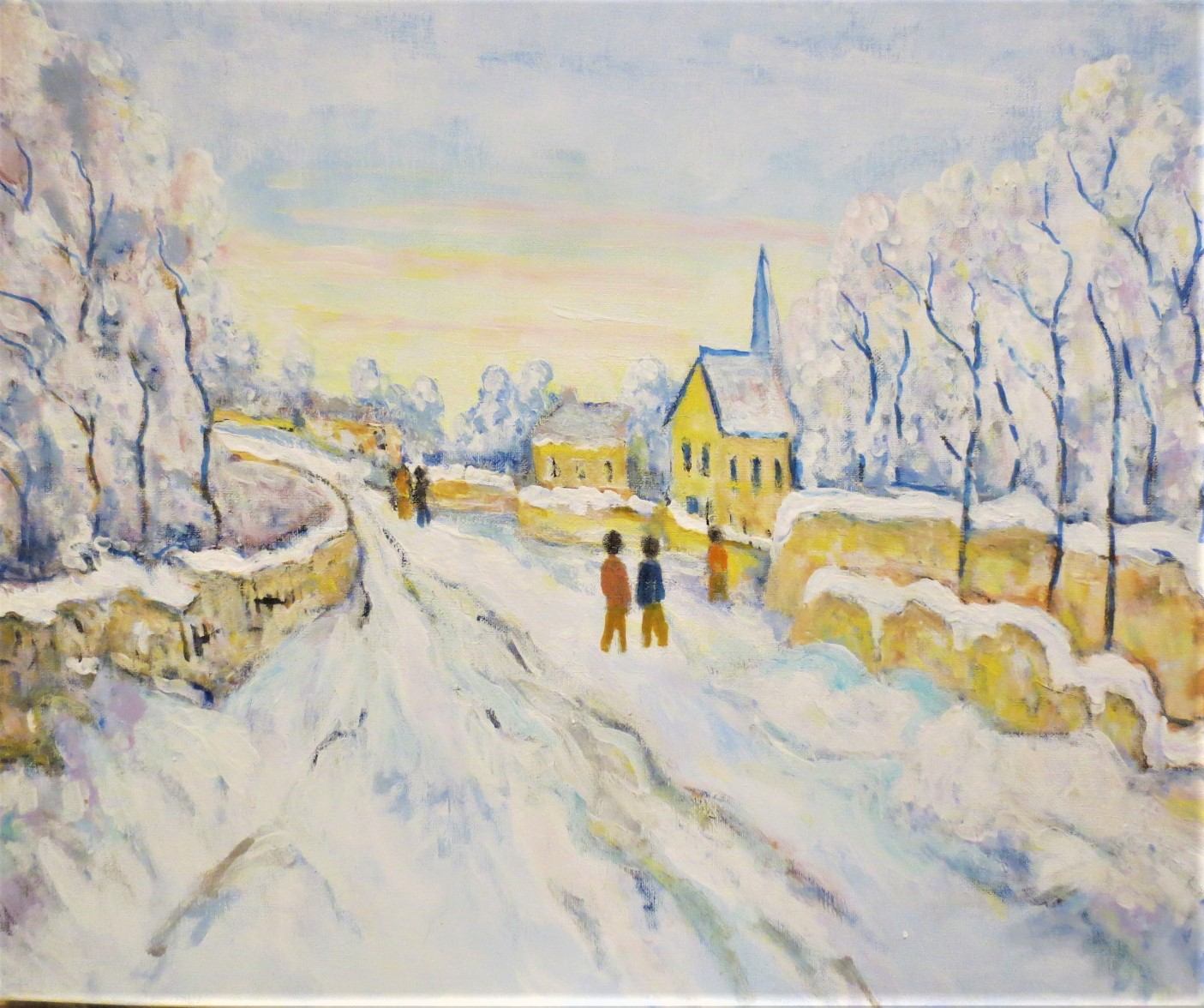Un paysage d'hiver de Bernard Roynette